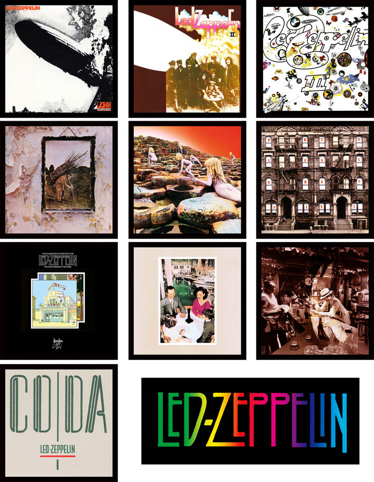 Led Zeppelin 11 Pack Album Cover Discography Magnet Lot