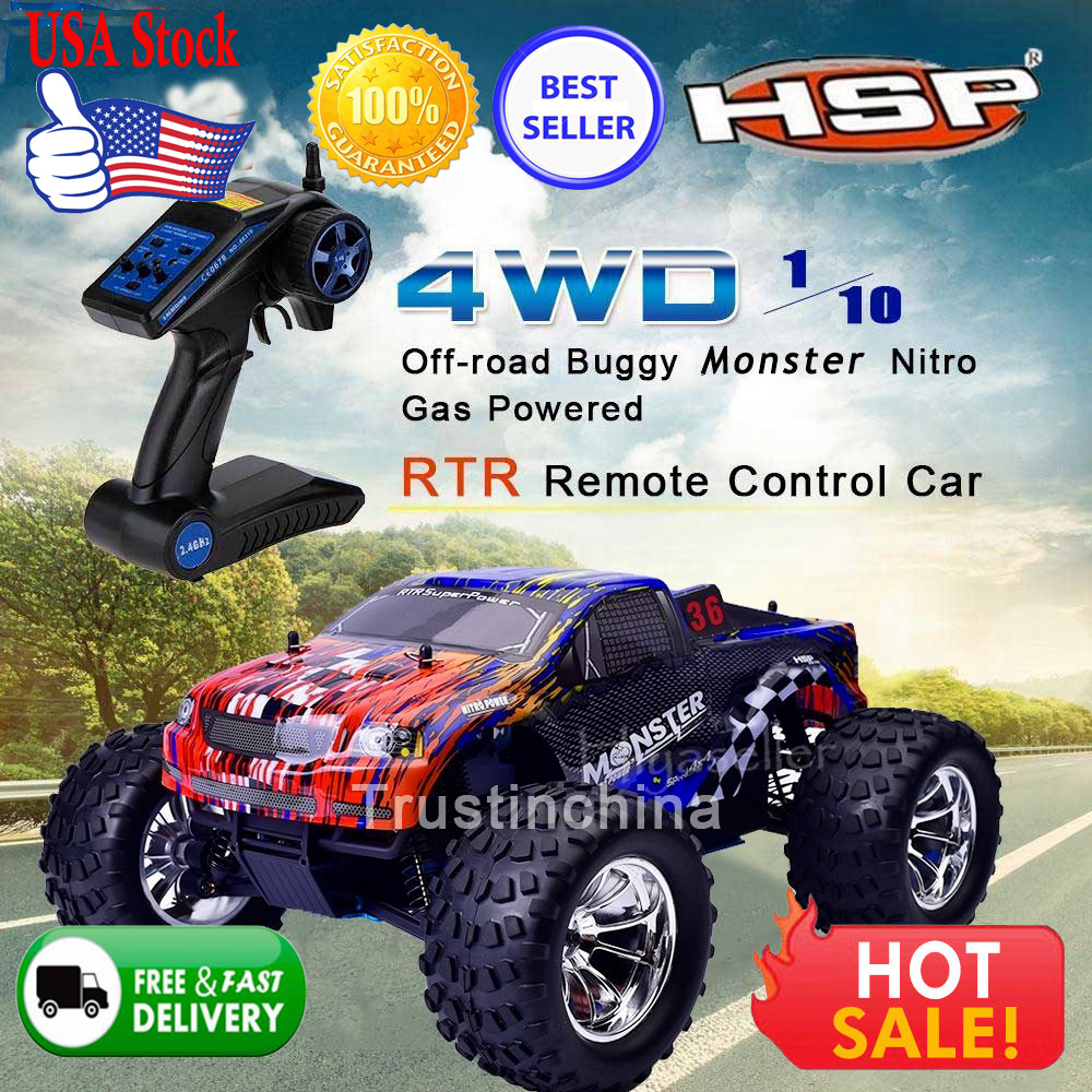 Hsp Rc Truck Nitro Gas Power Off Road Monster Truck 94188: US HSP 94188 1/10 Scale Nitro Gas Power Off Road Buggy