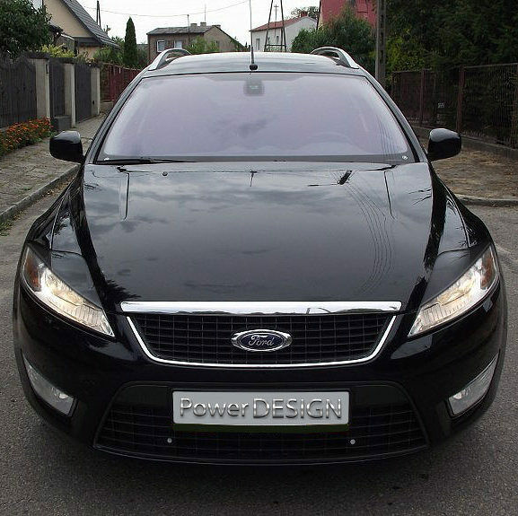 eyebrows for ford mondeo mk4 2007 2010 headlight eyelids lids abs plastic ebay. Black Bedroom Furniture Sets. Home Design Ideas