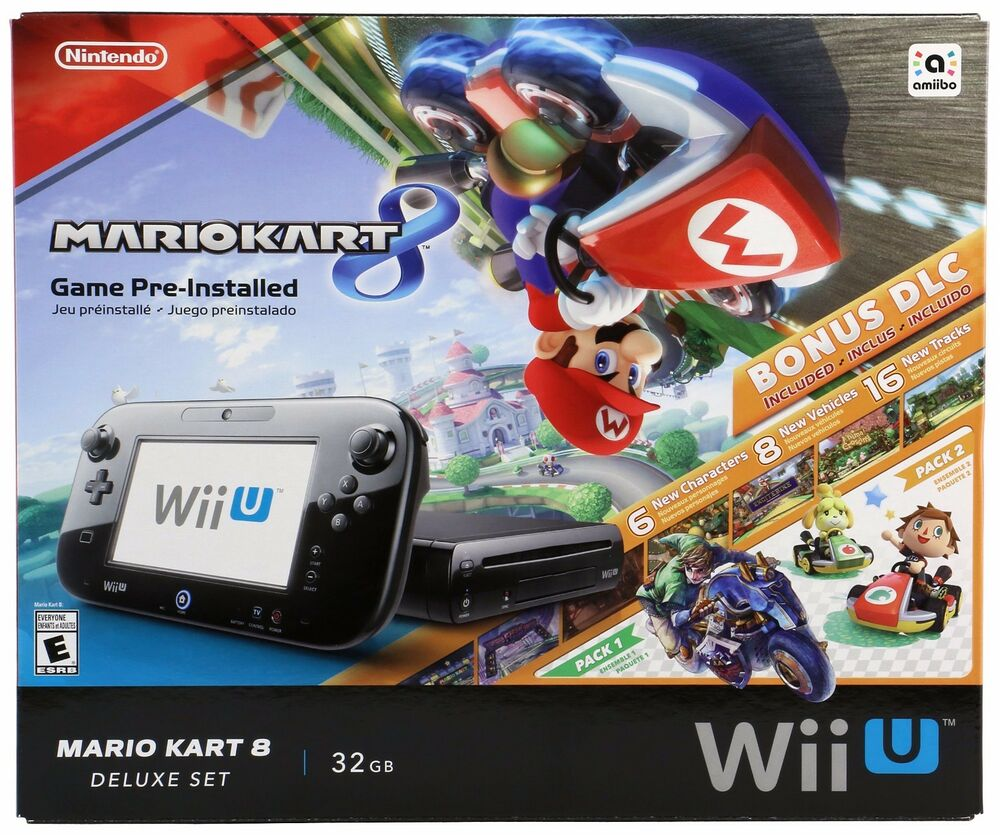 new nintendo wii u console mario kart 8 deluxe set. Black Bedroom Furniture Sets. Home Design Ideas