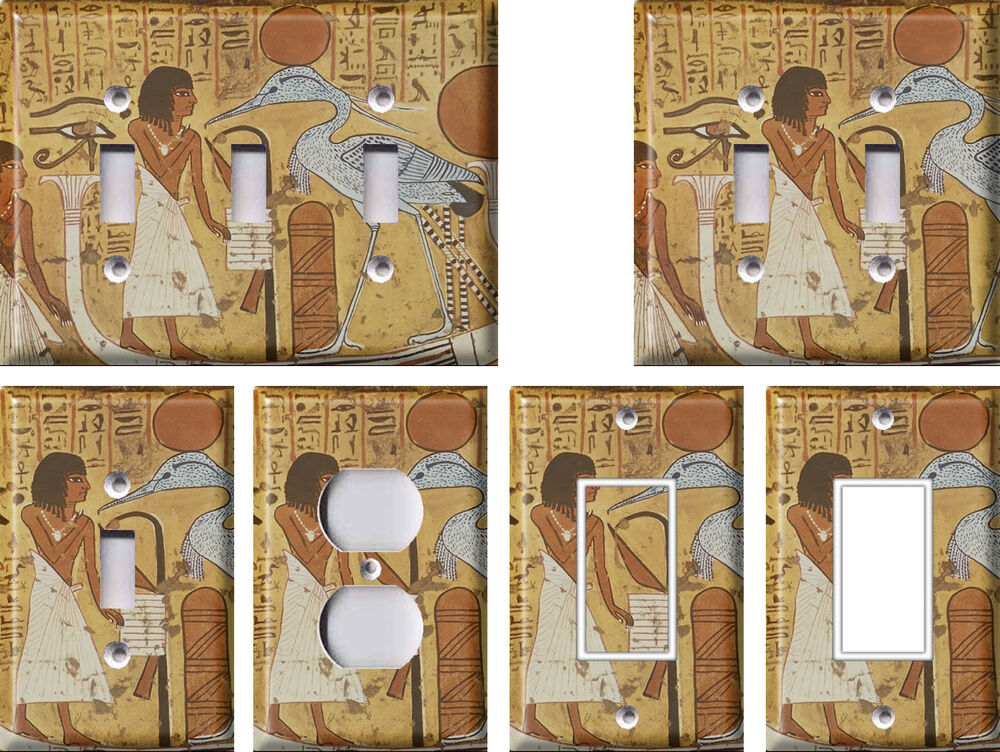 Ancient egypt light switch covers home decor outlet ebay for Ancient egyptian decoration
