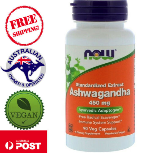 Now Foods, Ashwagandha, 450 mg, 90 Vegan Caps helps relief stress