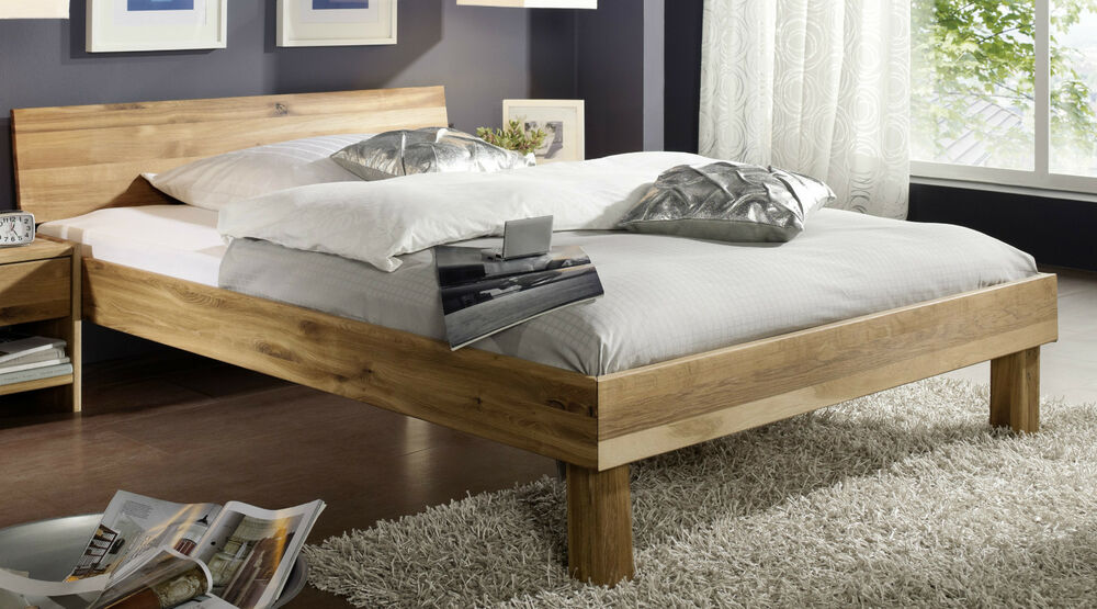 doppelbett bett 180x200 wildeiche eiche massiv ge lt neu. Black Bedroom Furniture Sets. Home Design Ideas