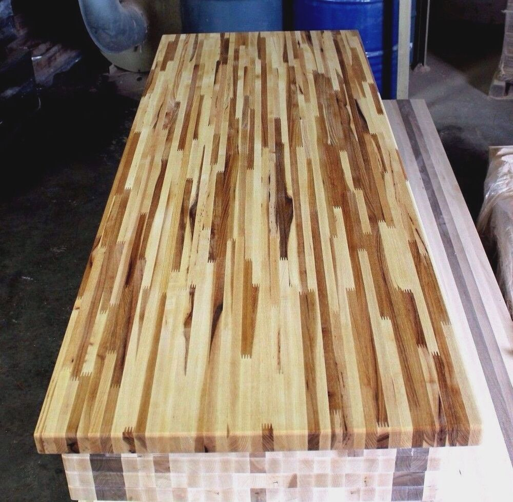 Forever Joint Hickory Butcher Block Top 1 1 2 Quot X36 Quot X60 Quot Kitchen Cutting Board Ebay