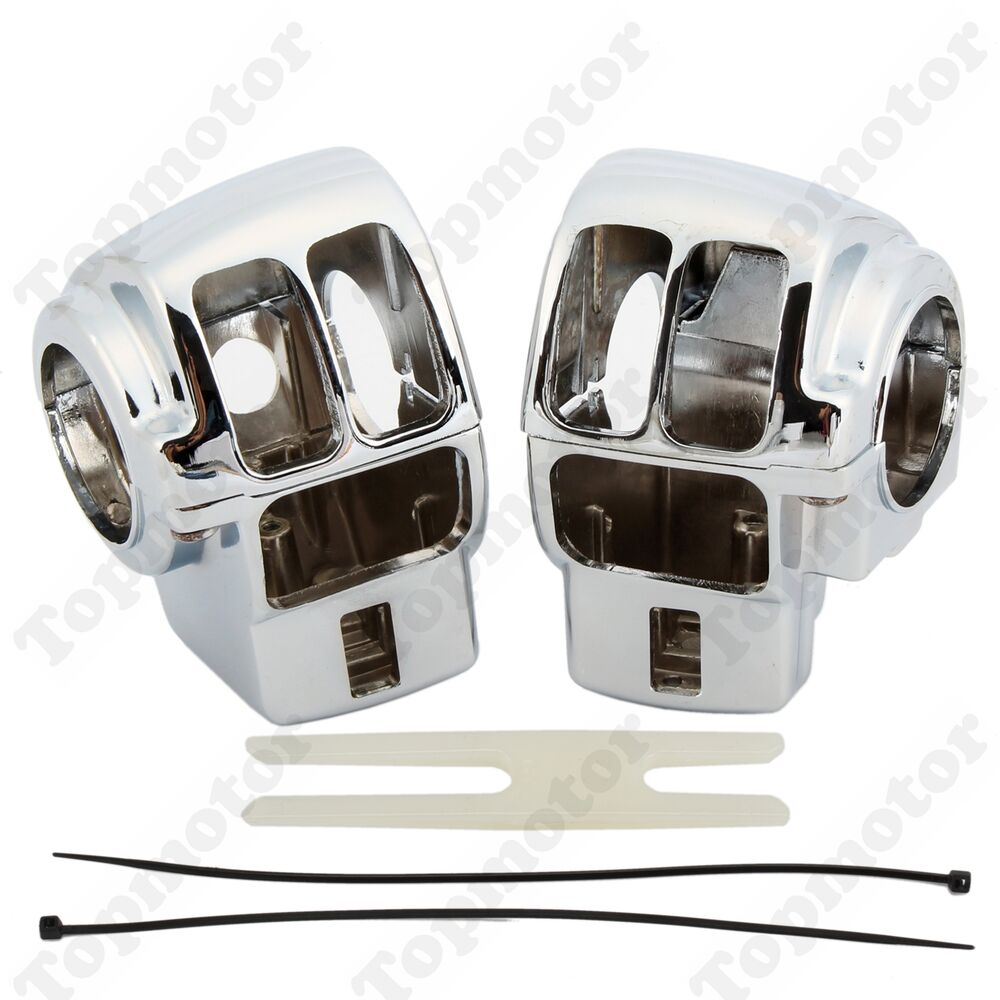 Chrome Handlebar Control Switch Housing Cover For Harley