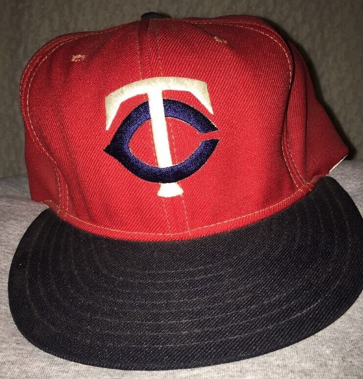 ce95f74d15b Details about 80s Vintage Minnesota Twins Snapback Hat Size Large by ANNCO