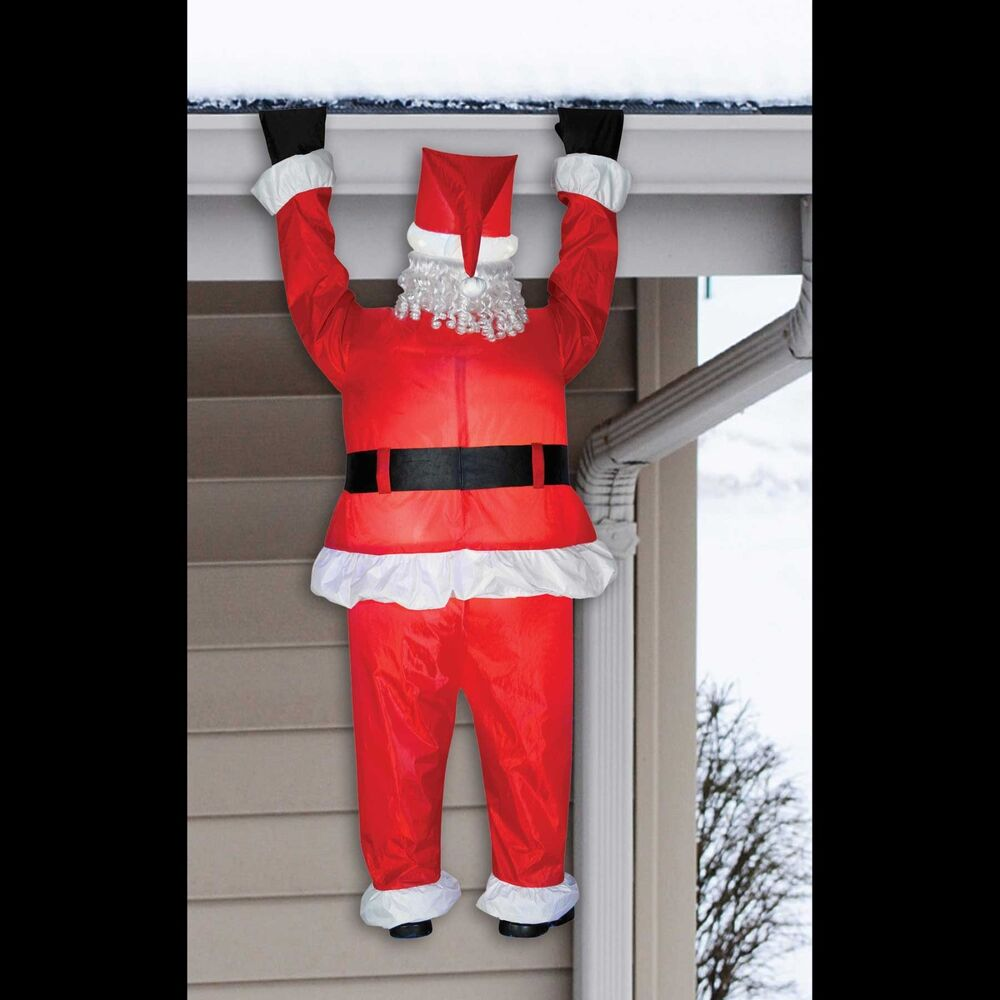 Inflatable airblown funny roof hanging santa christmas for Airblown decoration