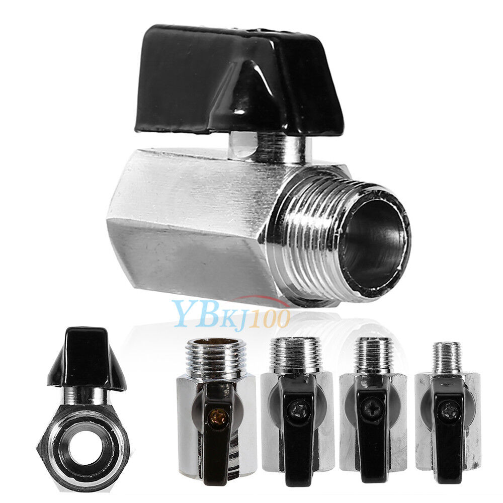 mini brass ball valve 1 2 3 8 1 4 1 8 male female thread for water gas oil ebay. Black Bedroom Furniture Sets. Home Design Ideas