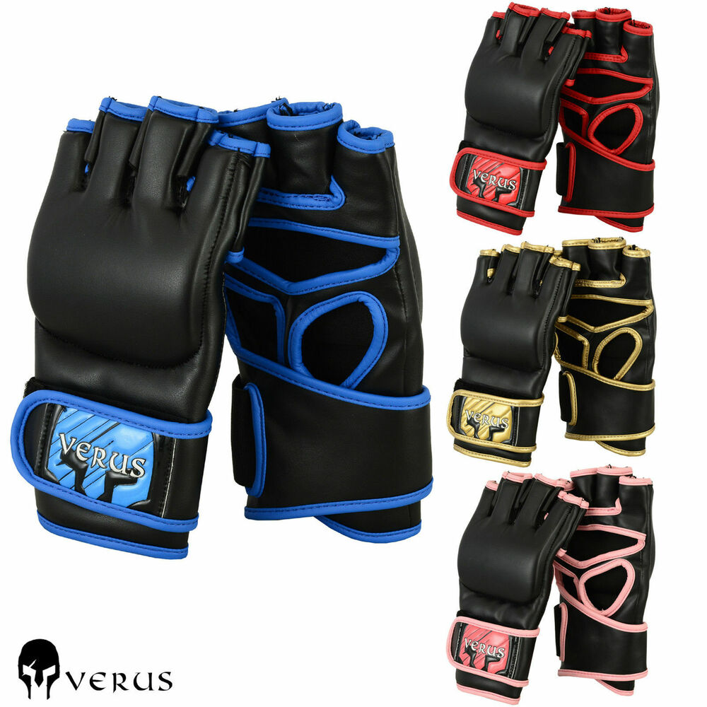 Verus Cage Fight Training Mma Gloves Ufc Boxing Mitts Grappling Bag Muay Thai Ebay