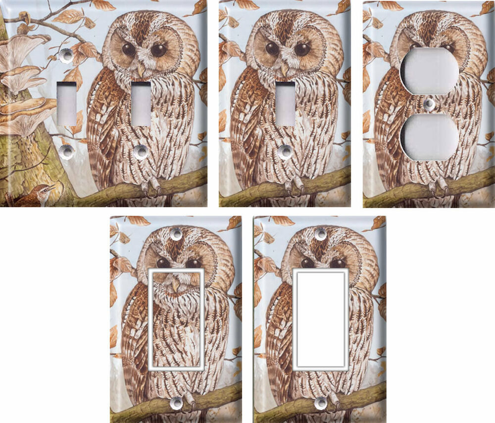 Tawny Owl Light Switch Covers Home Decor Outlet Ebay