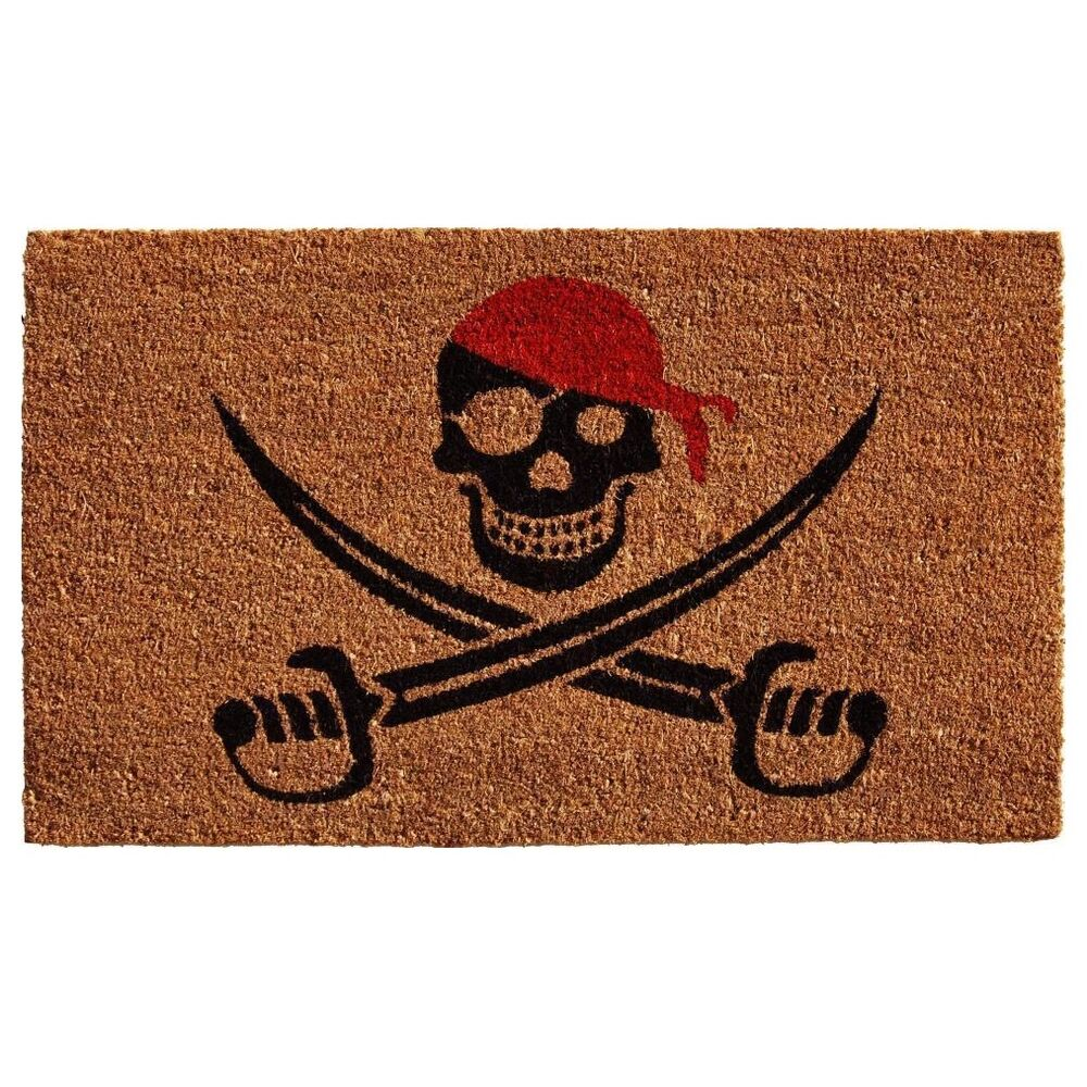 Halloween Decorations Outdoor Animated Pirate Mat Coir  ~ 035658_Halloween Animated Door
