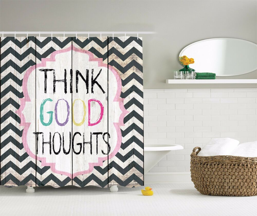 Think Good Thoughts Inspirational Quotes Shower Curtain