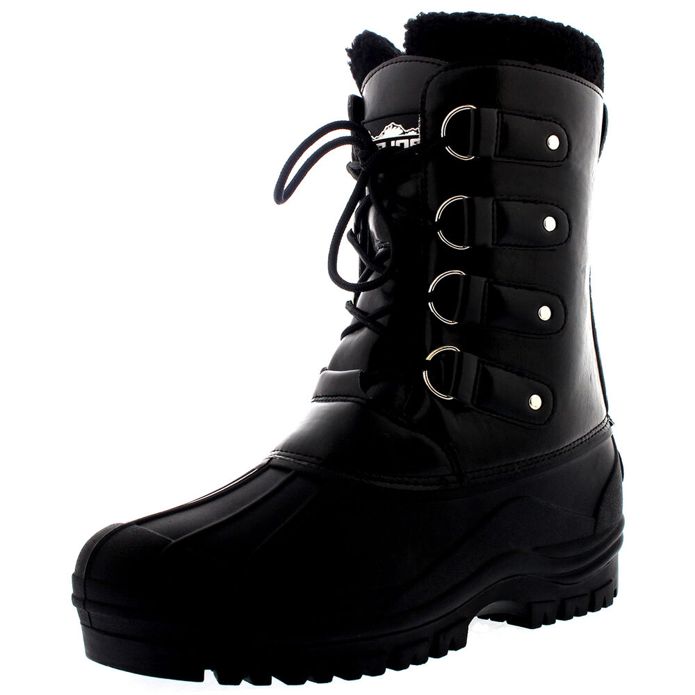d2f15dfafb8bf7 Details about Mens Dog Walking Waterproof Faux Fur Duck Outdoor Hiking  Mountain Boots UK 3-10