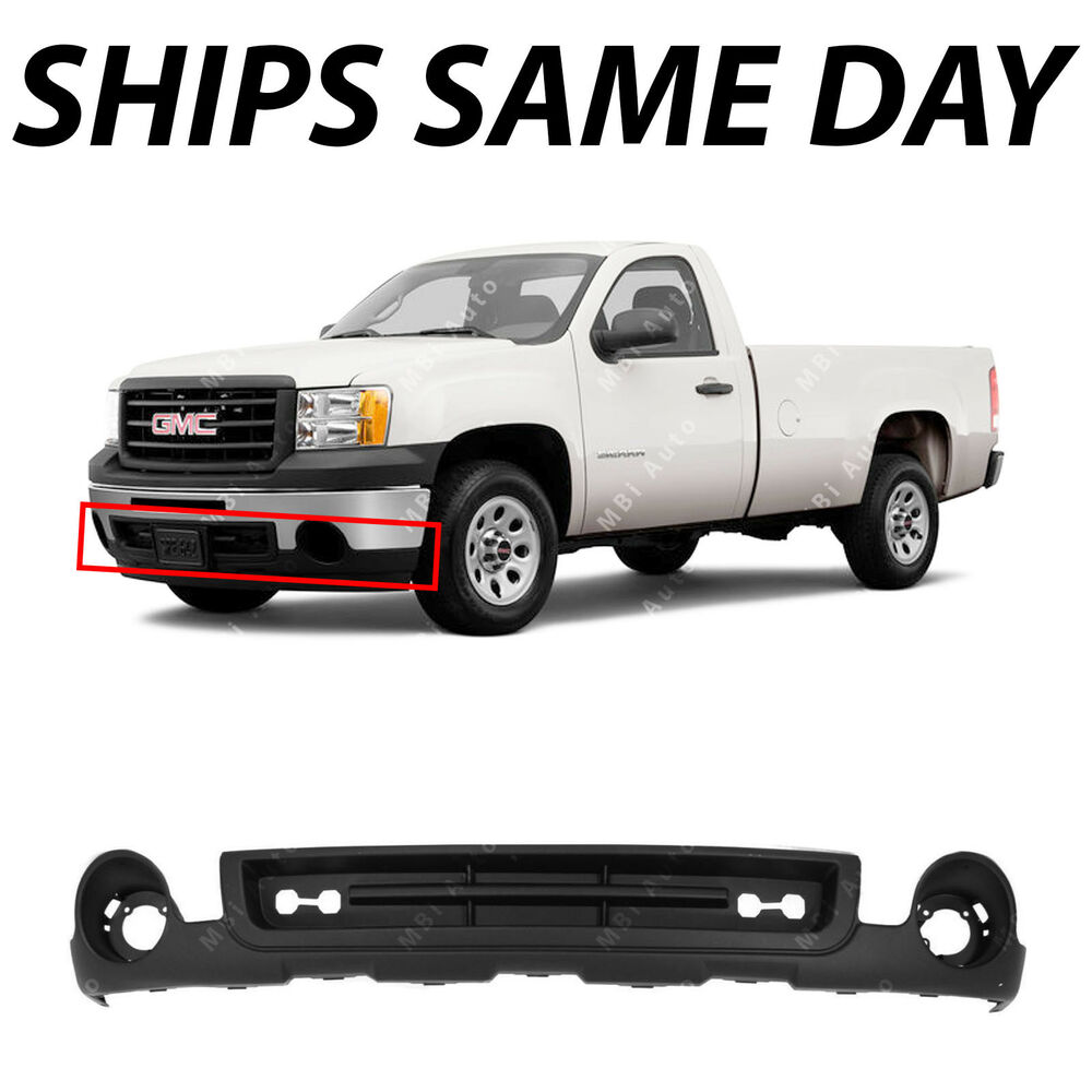 new textured front bumper lower air deflector valance 2007 2013 gmc sierra 1500 ebay. Black Bedroom Furniture Sets. Home Design Ideas