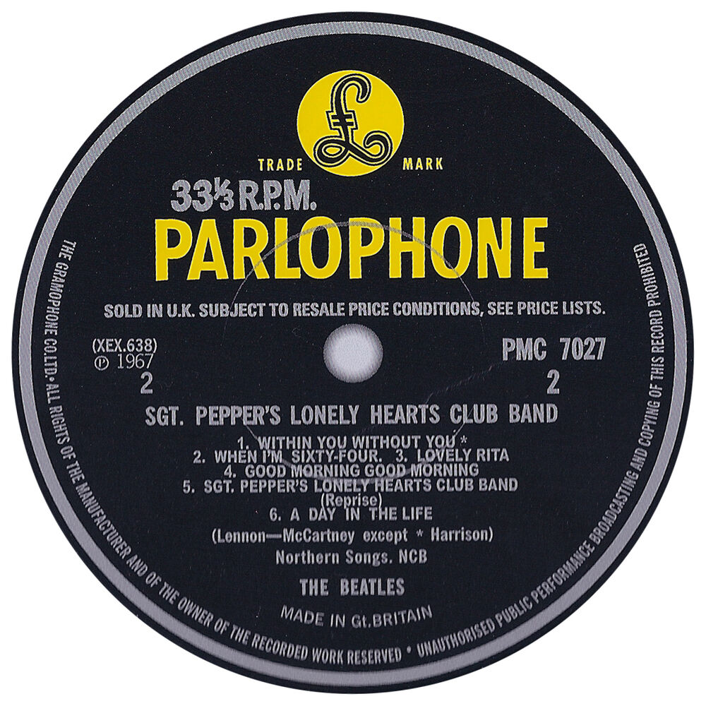 Beatles Record Label Vinyl Sticker Parlophone Apple Ebay