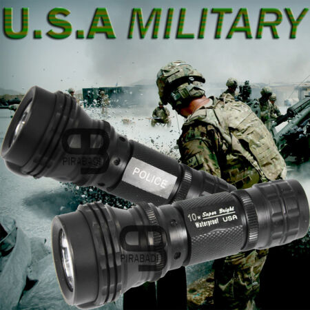 img-SWAT POLICE 500M LAMPE TORCHE 3500 LUMENS LED 10W FLASHLIGHT • MADE IN U.S.A •