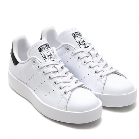 683dbd474256 Details about New Adidas Original Womens Stan Smith Bold S75213 White Black  US 5.0 - 8.0 TAKSE