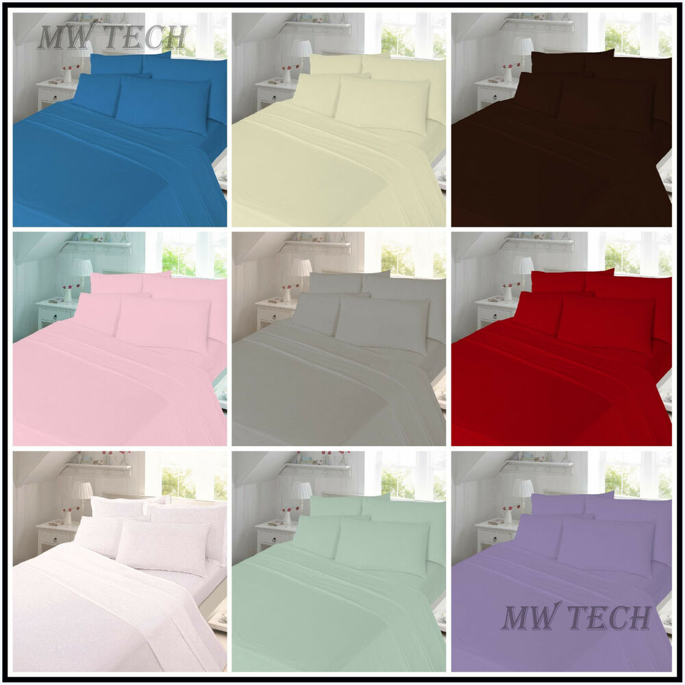 thermal flannelette fitted flat bed sheet single double. Black Bedroom Furniture Sets. Home Design Ideas