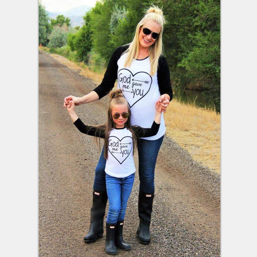Winter Family Clothe Family Matching Outfits T-shirt ...
