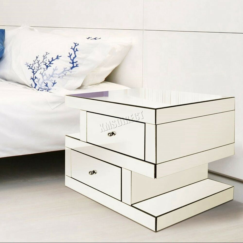 WestWood Mirrored Bedside Table