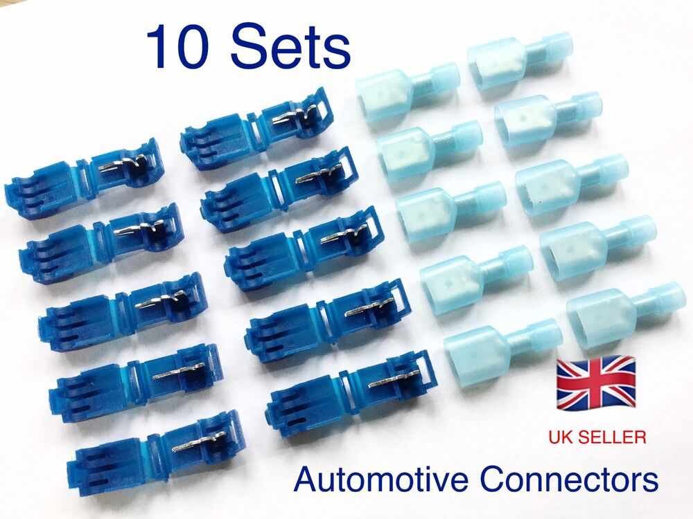 Super 10 Sets Quick Splice Lock Wire Terminals Connectors Electrical Crimp Wiring Cloud Nuvitbieswglorg