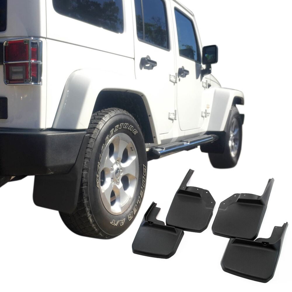 jeep wrangler mud flaps 2007 18 jk jku guards splash. Black Bedroom Furniture Sets. Home Design Ideas