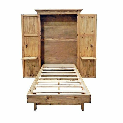 Solid Wood Murphy Hideaway Twin Bed Ebay