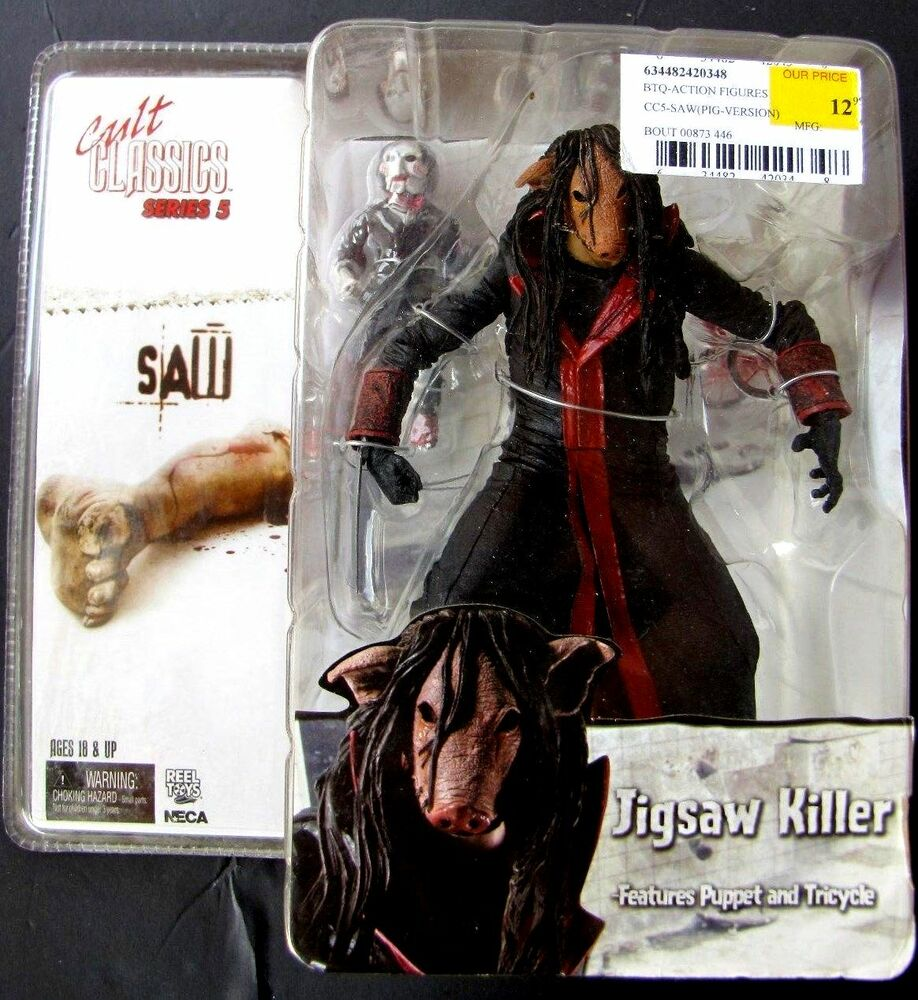 2004 Jigsaw Killer Puppet Action Figure Saw Movie Cult