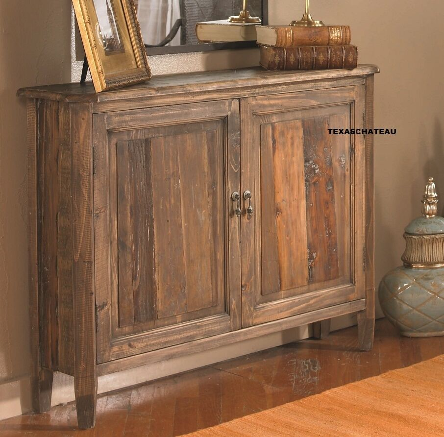 10 d narrow farmhouse wood cabinet console chest entry table french country new ebay - Sofa table with cabinets ...