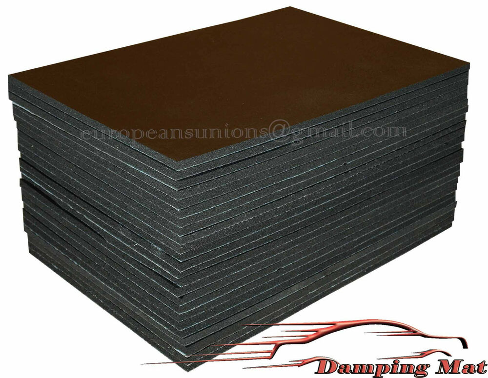 24 sheets car sound proofing deadening insulation pads for Sound proof wall padding
