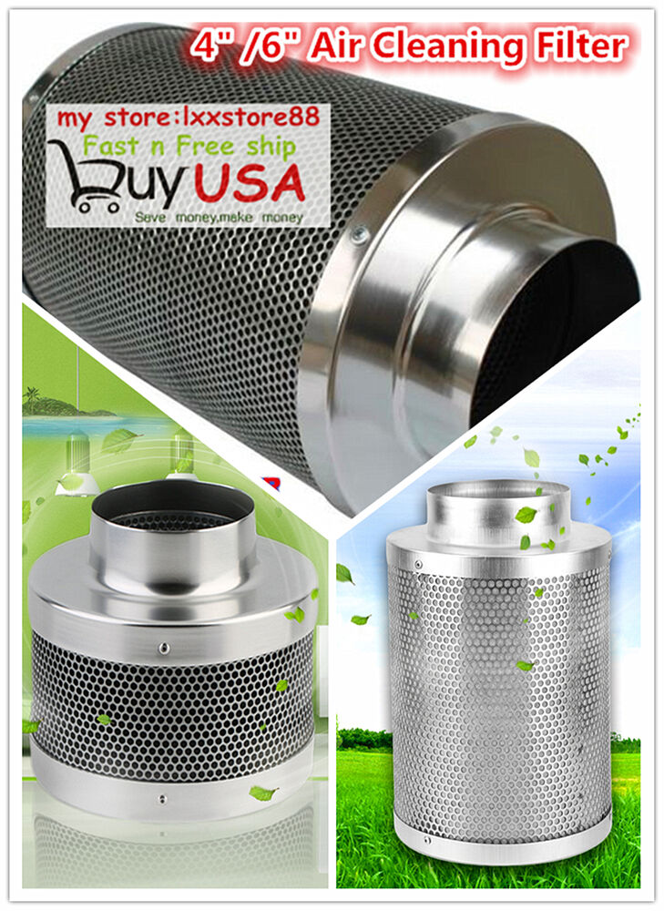 Carbon Air Cleaner : Quot inch air carbon filter odor control w virgin