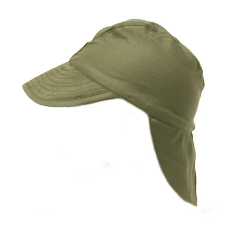 img-French Army / Foreign Legion Combat Warm Weather Hat Green Satin peaked Cap