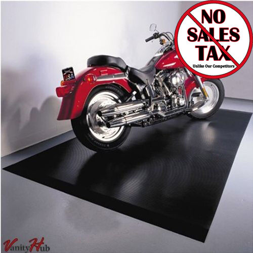 Motorcycle Floor Mat 5 Ft X 10 Ft Black Protector Rubber