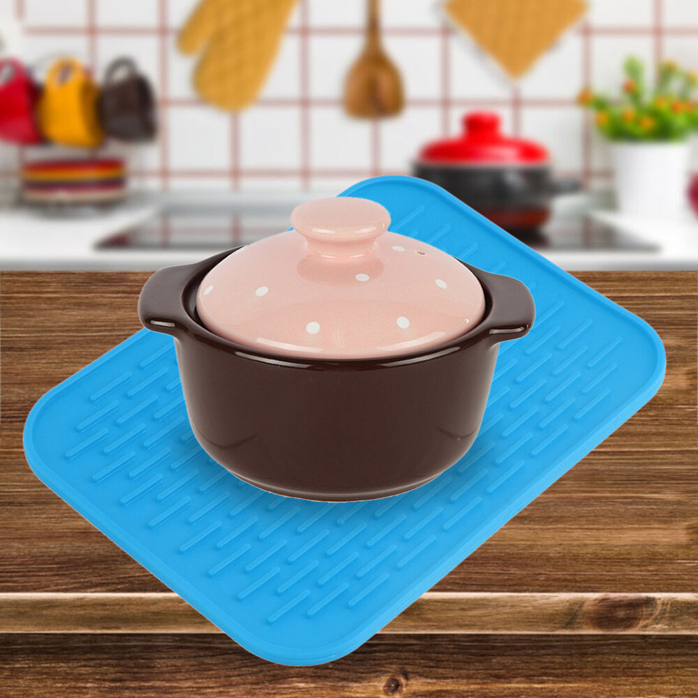 Heat Resistant Mat For Dining Table ... Kitchen Trivet Straightener Holder Mat Anti Ironing Non-slip ZD | eBay