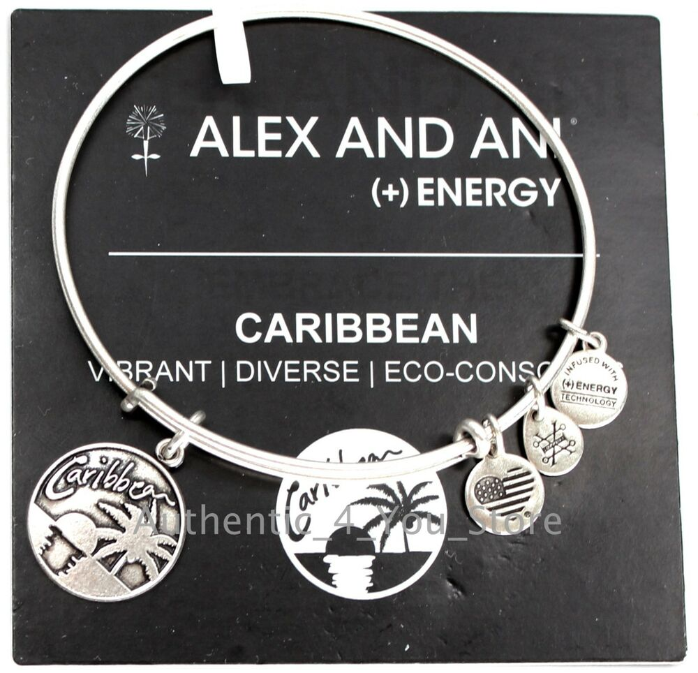 New Alex And Ani Caribbean Exclusive Palm Tree Sunset