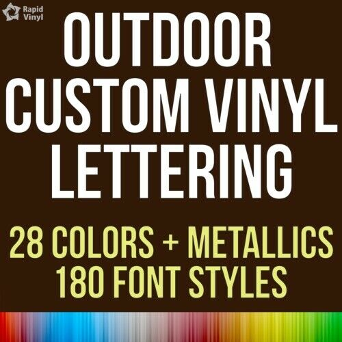 Custom outdoor vinyl lettering decal car truck boat jeep for Vinyl letter stickers for boats