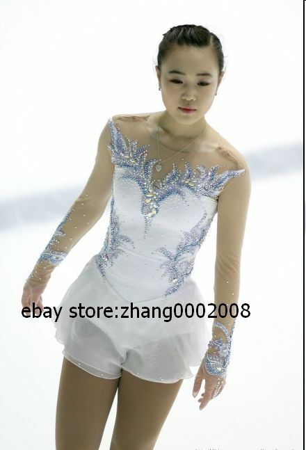 White figure skating dress with wings
