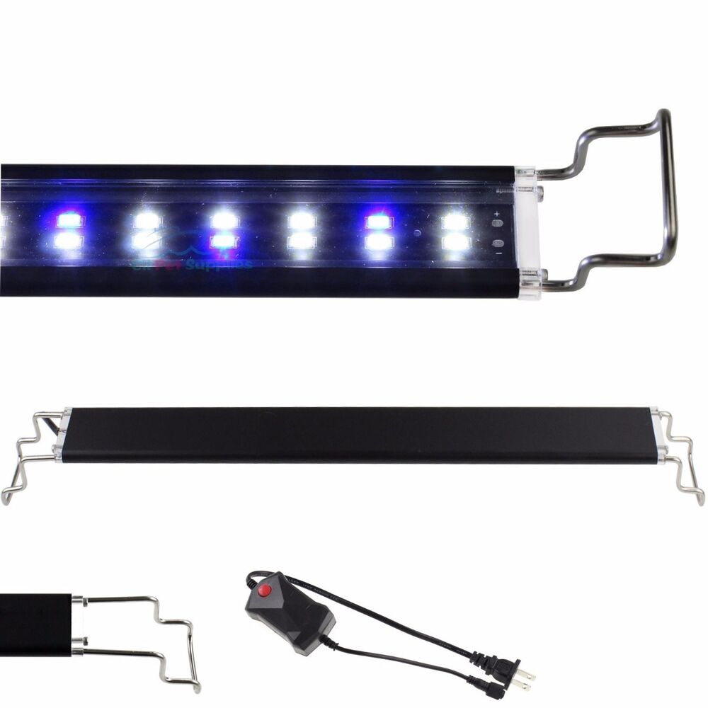 12 48 led light aquarium fish tank 0 5w white blue marine fowlr ebay. Black Bedroom Furniture Sets. Home Design Ideas