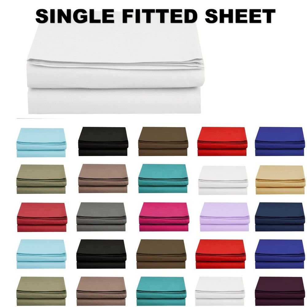 Thread Count Single Bed Sheets