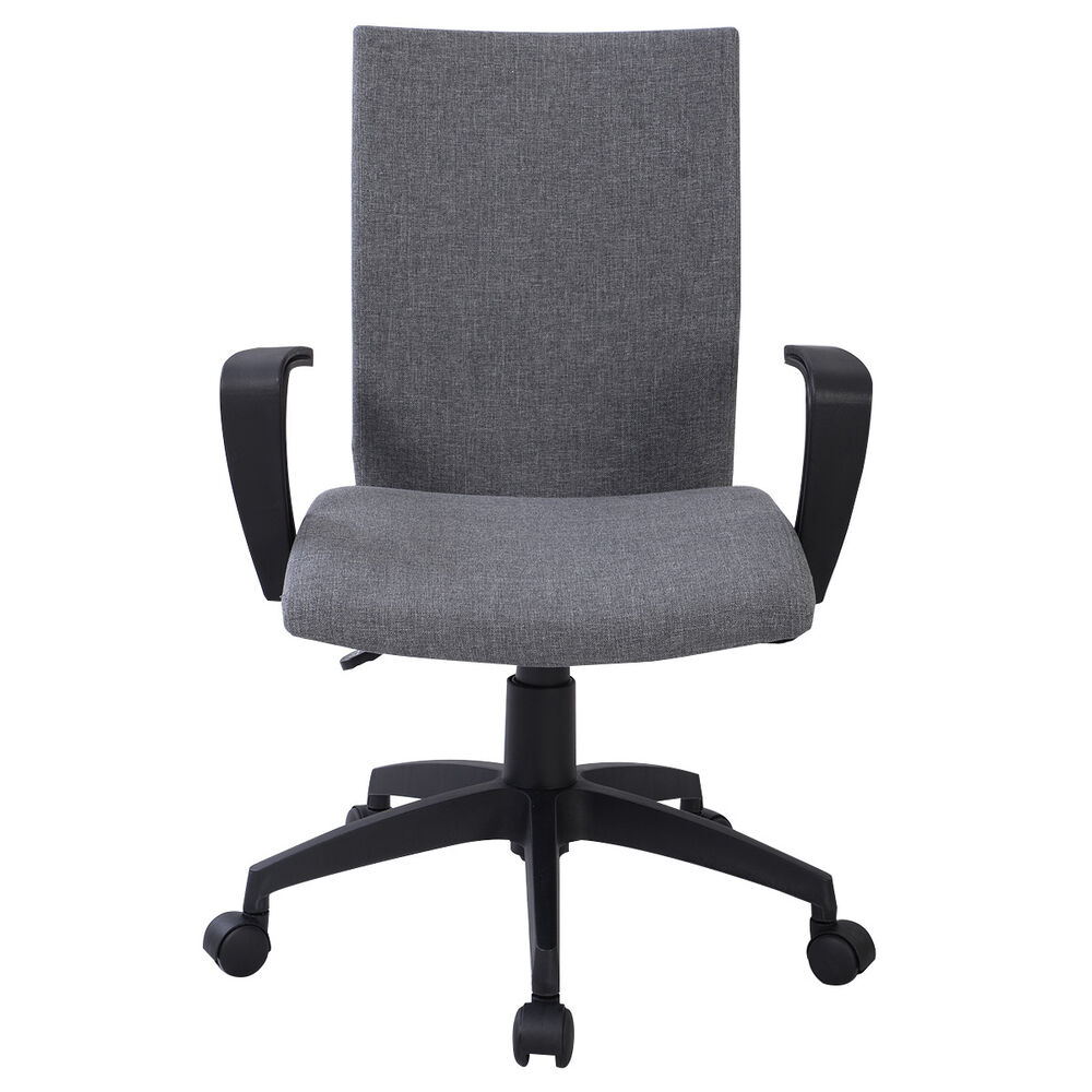 new gray ergonomic desk task office chair midback executive computer