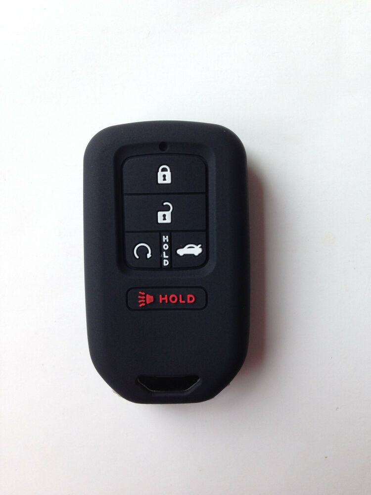 black fob remote key case cover for 2015 2016 2017 honda. Black Bedroom Furniture Sets. Home Design Ideas