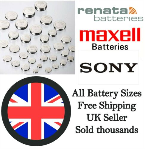 Renata/Sony/Maxell Cell Batteries ALL SIZES Watch Battery Kitchen Scales Car