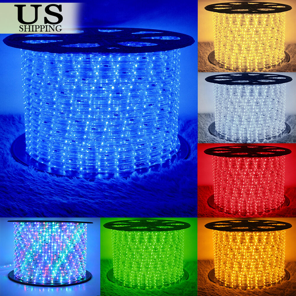 Ebay Outdoor Xmas Lights: 50' 150' LED Rope Light 110V Party Home Christmas Outdoor
