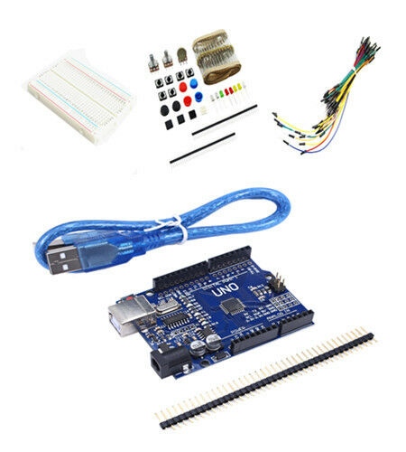 New basic starter kit uno r breadboard led jumper wire