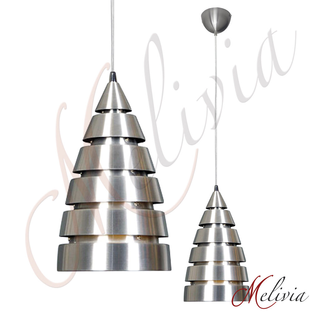 pendelleuchte rakete silber 18 cm h ngelampe modern deckenlampe e27 chrom lampe ebay. Black Bedroom Furniture Sets. Home Design Ideas