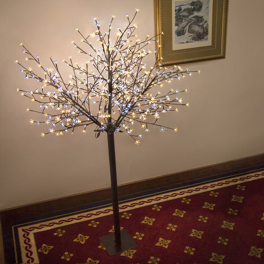 8ft christmas tree 600 led light cherry blossom flower