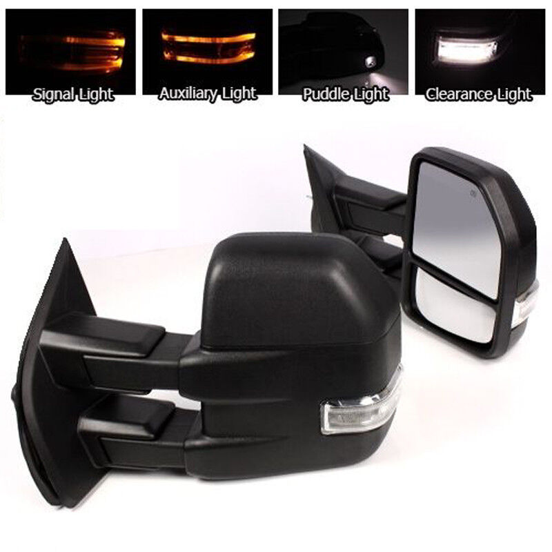 For 15 17 2018 F150 Pickup Towing Mirrors 22 Pin Power