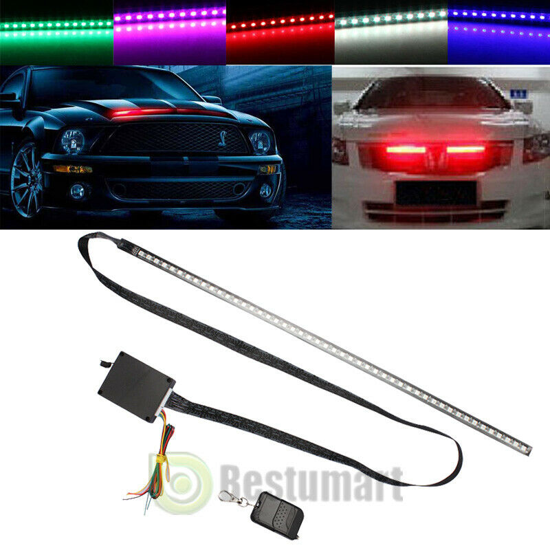 7 color 56cm 48 led rgb scanner flash car strobe knight. Black Bedroom Furniture Sets. Home Design Ideas