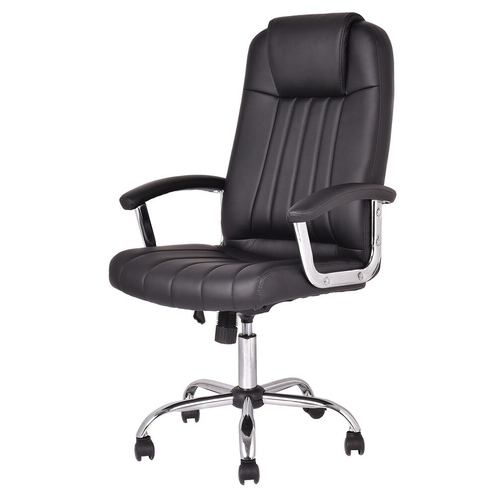 Ergonomic PU Leather High Back Executive Computer Desk Task Office Chair New