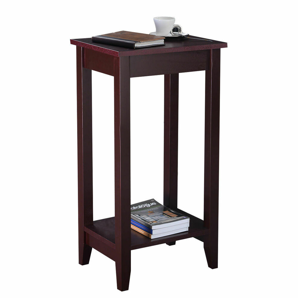 Tall End Table Coffee Stand Night Side Nightstand Accent